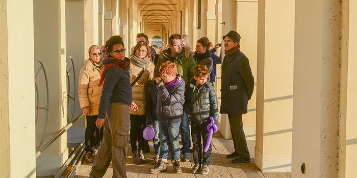 Visitatori accompagnati dalle guide