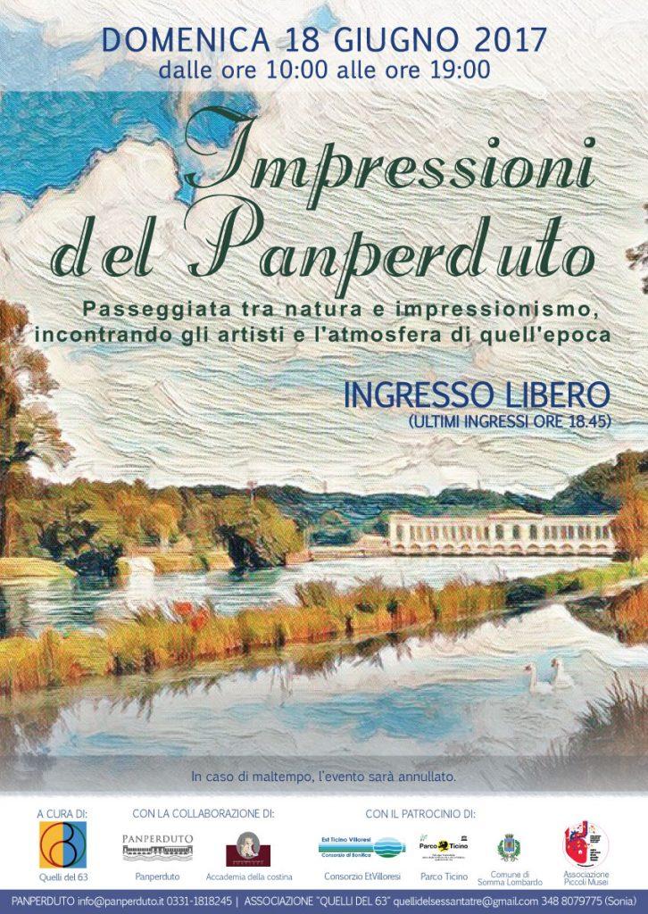Rievocazione in costume dell'epoca degli artisti impressionisti presso il Panperduto